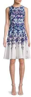 Gabby Skye Floral Fit-&-Flare Dress