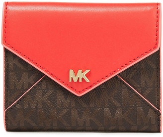 MICHAEL Michael Kors Paneled Logo-print Faux Leather Wallet