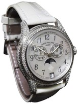 Patek Philippe Complications 4937G 18K White Gold & Leather with Diamonds 37mm Womens Watch