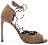 Saint Laurent Suede Kate Lace Up Heels