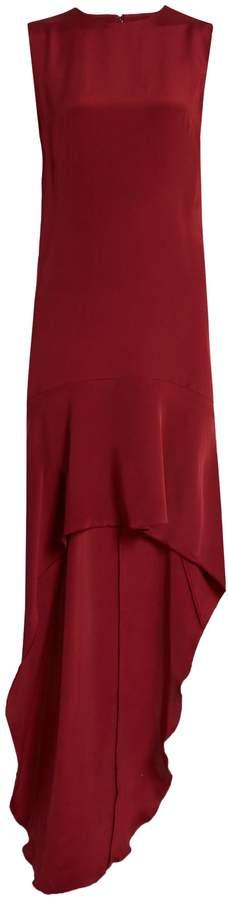 Raey Train-hem silk dress