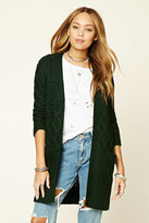 Forever 21 FOREVER 21+ Cable Knit Longline Cardigan