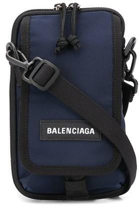 Balenciaga logo patch messenger bag