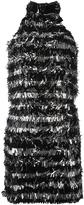Michael Kors metallic fringed dress