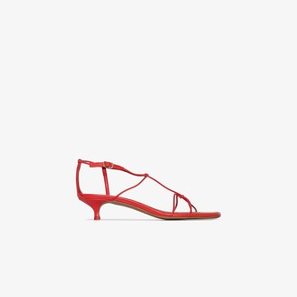 Zimmermann Red 40 crossover strap sandals