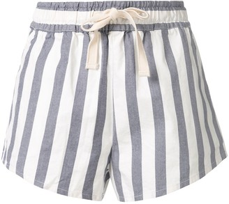 Venroy Striped Short Shorts
