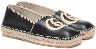 Gucci GG leather espadrilles
