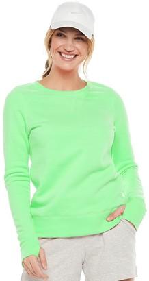 Tek Gear Petite Fleece Crewneck Sweatshirt