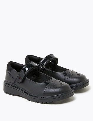 Marks and Spencer Kids' Leather Mary Jane School Shoes (8 Small - 1 Large)