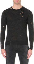 Diesel K-Ideo distressed knitted jumper