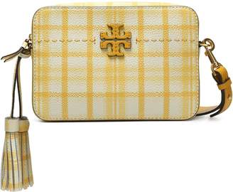 Tory Burch Checked Pebbled-leather Shoulder Bag