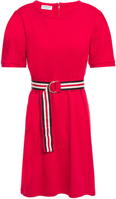 Claudie Pierlot Belted Cotton-jersey Mini Dress