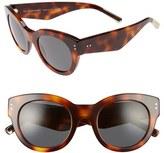 Burberry Women's 49Mm Retro Sunglasses - Grey Horn