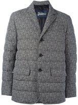 Herno herringbone pattern jacket