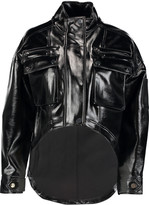 Opening Ceremony Glossed faux leather jacket