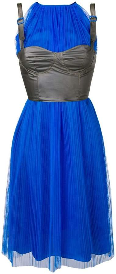 Maison Margiela pleated layered corset dress