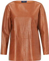Polo Ralph Lauren Leather Boatneck Top