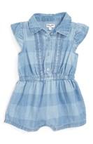 Splendid Infant Girl's Gingham Denim Short Romper