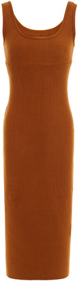 Enza Costa Ribbed-knit Midi Dress