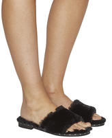 Office Snuggle Fluffy Mule Sandals