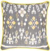 The World In Cushions Melati Grey & Yellow Ikat Cushion