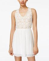 Trixxi Juniors' Lace Fit & Flare Dress