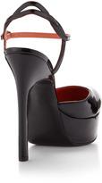 Via Spiga Daffodil Patent Platform Pump, Black