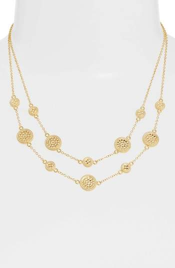Anna Beck Gold Plate Double Strand Collar Necklace