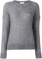 Saint Laurent sequin embellished knit jumper - women - Silk/Polyester/Mohair - M
