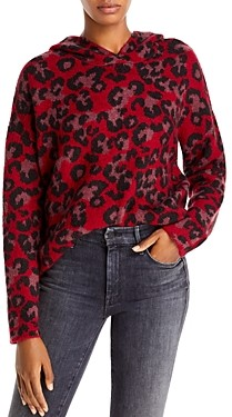 Aqua Hooded Leopard Print Sweater - 100% Exclusive