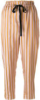 Forte Forte striped drawstring trousers
