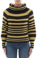 Alberta Ferretti Women's Yellow/black Wool Sweater.