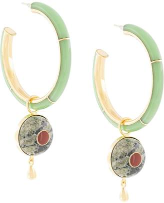 Monica Sordo Brujo embellished hoop earrings