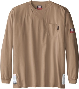 Key Apparel Men's Big-Tall Fire Resistant Long Sleeve Pocket T-Shirt