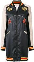 As65 colour-block zipped coat
