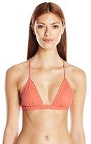Vix Women's Solid Peach Bruna Bikini Top