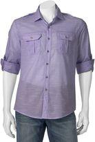 Apt. 9 Men's Modern-Fit Slubbed Roll-Tab Button-Down Shirt
