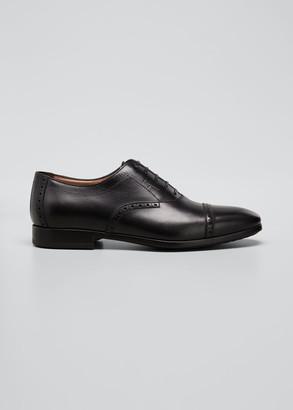 Salvatore Ferragamo Men's Saddle Leather Oxford Shoes