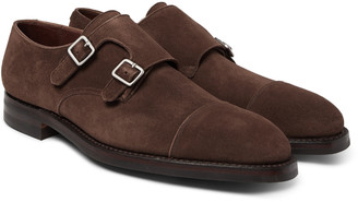 George Cleverley Thomas Pebble-Grain Leather Monk-Strap Shoes