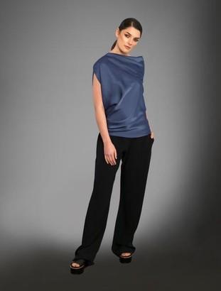 Roisin Linnane - Indie Top Blue Grey Diva - UK 10 / Blue