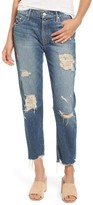 Mother Women's The Sinner Ripped Ankle Straight Leg Jeans