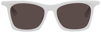 Balenciaga White Square Sunglasses