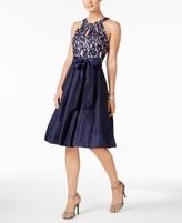 Jessica Howard Petite Lace Cutout Fit & Flare Dress