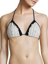 Jonathan Simkhai Oxford Triangle Bikini Top