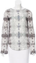 Theyskens' Theory Abstract Printed Silk Top