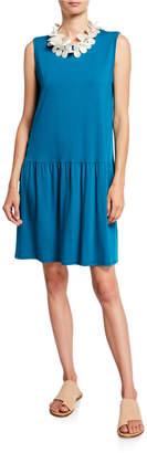 Eileen Fisher Drop-Waist Sleeveless Jersey Dress