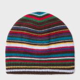 Paul Smith Men's Signature Stripe Wool-Blend Beanie Hat