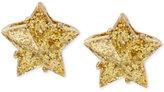 Betsey Johnson Gold-Tone Glitter Star Stud Earrings