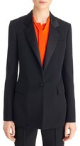 Givenchy Women's Satin Lapel One-Button Wool Blazer