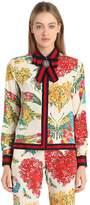 Gucci Floral Printed Silk Cady Crepe Shirt